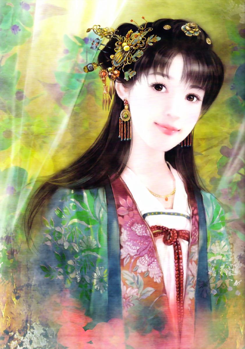手绘古装美图图片