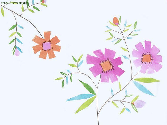艺术与抽象花卉