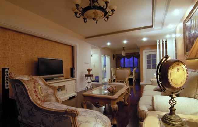 110平三室两厅装修欧式奢华美家