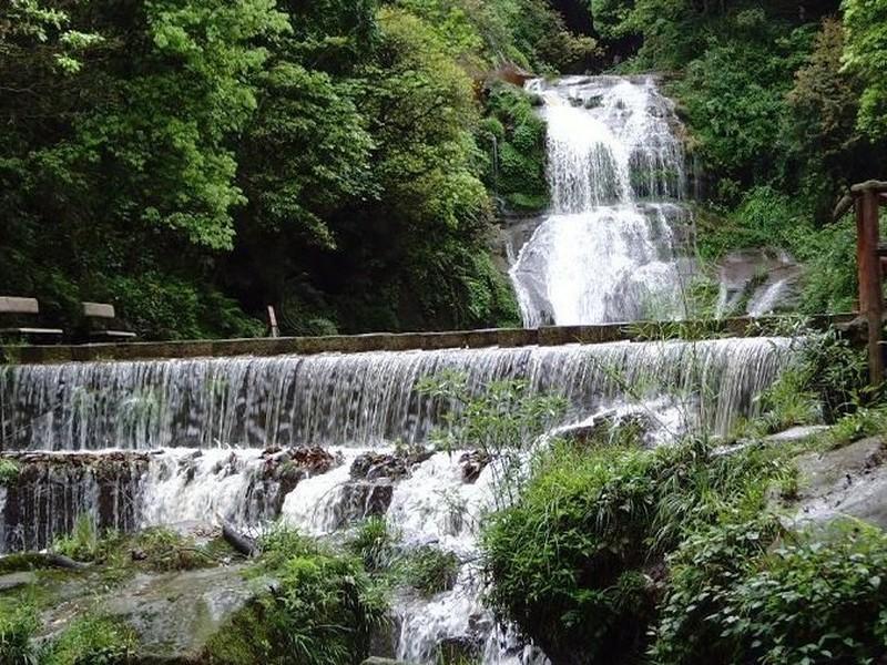 碧峰峡风景区由两条峡谷构成,左峡谷长7公里,右峡谷长6公里,呈v字型